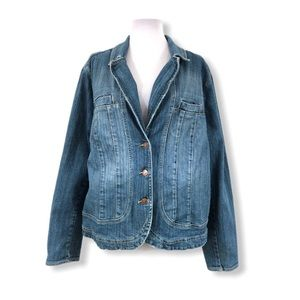 Venezia Jean Jacket 18/20 2X Blue Stretchy L/S